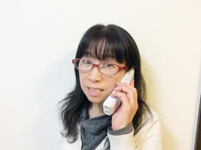 電話での会話も、認知症予防です。