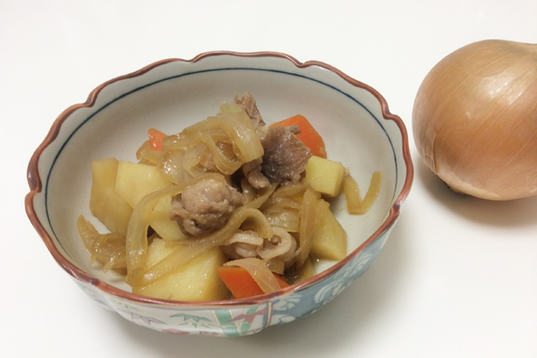 玉ねぎたっぷりの肉じゃが 脳にいい食べ物レシピ#24