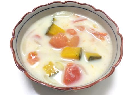 かぼちゃとトマトのスープ 脳にいい食べ物レシピ#55