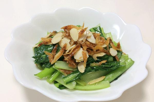 小松菜とクリスピー桜えび 脳にいい食べ物レシピ#56