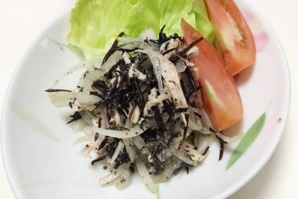 ひじきサラダ ゴマドレッシング 脳に良い食べものレシピ#71