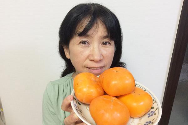 旬の柿を食べて風邪予防を!