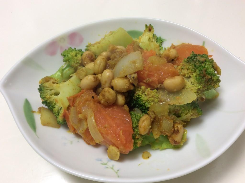 ブロッコリーと大豆のカレー蒸し 脳にいい食べ物レシピ#85