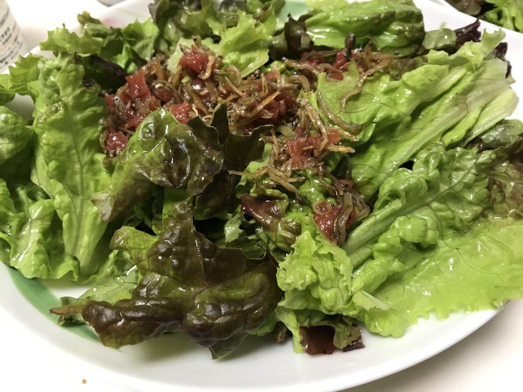 サニーレタスの梅ドレッシング和え 脳にいい食べ物レシピ#146