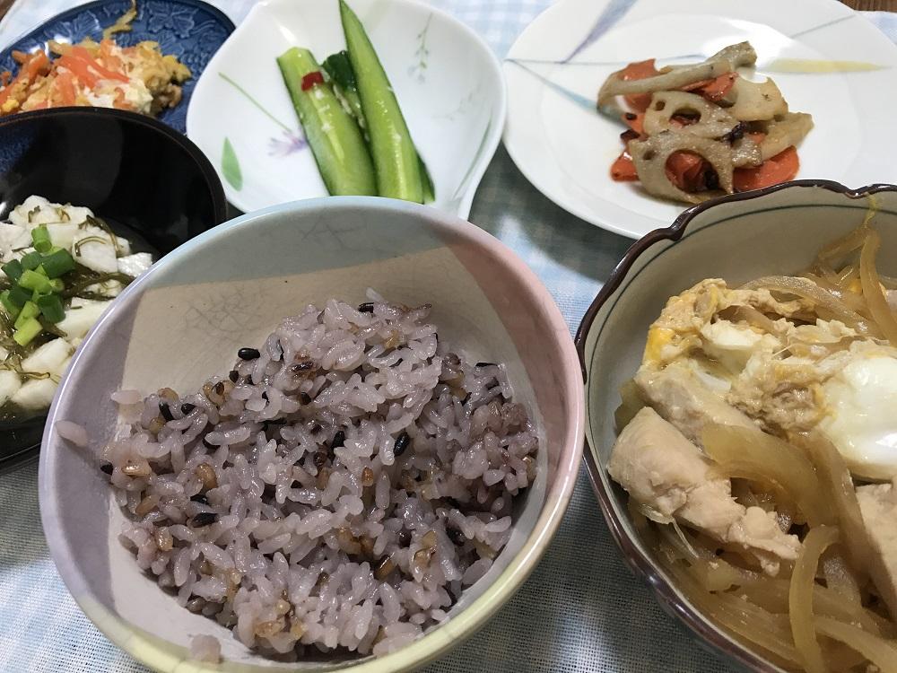 白米と黒米、赤米があれば、栄養バランスがばっちり整います。