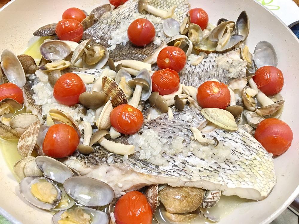 超簡単、塩麹アクアパッツァ 脳にいい食べ物レシピ#174