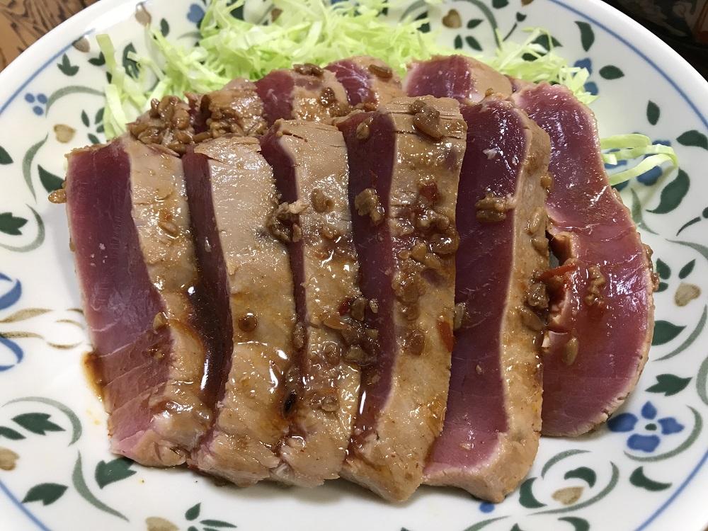 マグロのレアステーキ  脳にいい食べ物レシピ#179