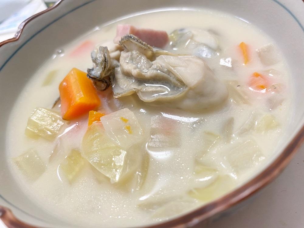 牡蠣のみそチャウダー 脳にいい食べ物レシピ#183